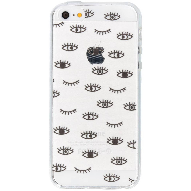 Eyes pattern design TPU hoesje voor de iPhone 5 / 5s / SE