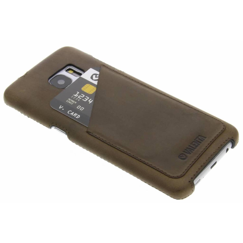 Back Cover Classic Luxe voor de Samsung Galaxy S7 Edge - Vintage bruin