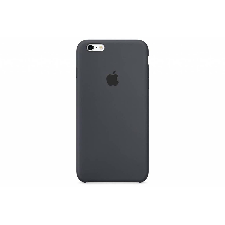 Silicone case voor de iphone 6(s) plus - houtskoolgrijs