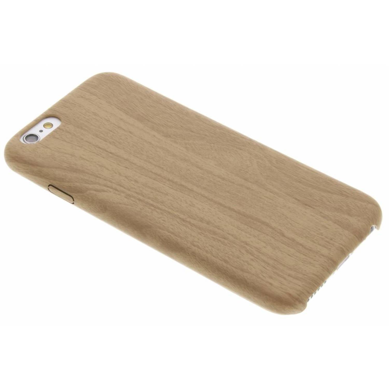 Beige Houten TPU case voor de iPhone 6-6s