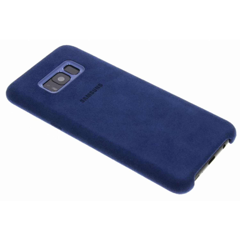 Blauwe originele Alcantara Cover voor de Galaxy S8 Plus