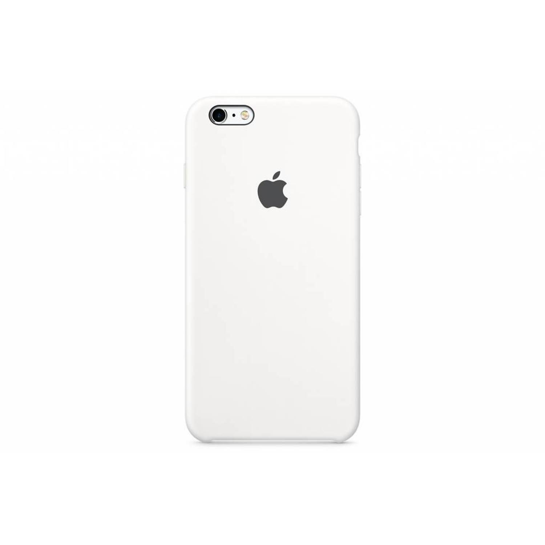 Silicone case voor de iphone 6(s) plus - wit