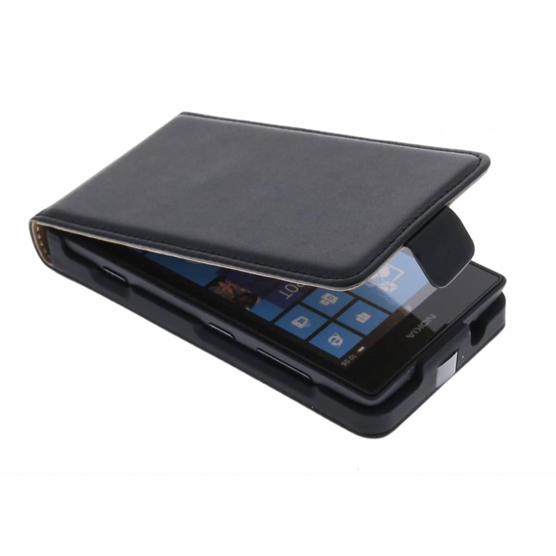 Zwarte luxe flipcase voor de Nokia Lumia 520-525