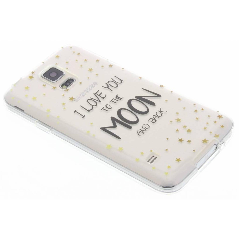 Transparant Quote design TPU hoesje voor de Samsung Galaxy S5 (Plus) / Neo