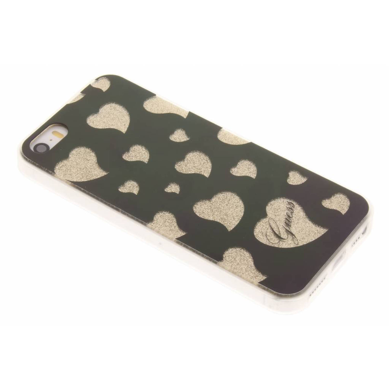 Hearts Soft TPU Case voor de iPhone 5 / 5s / SE - Gold