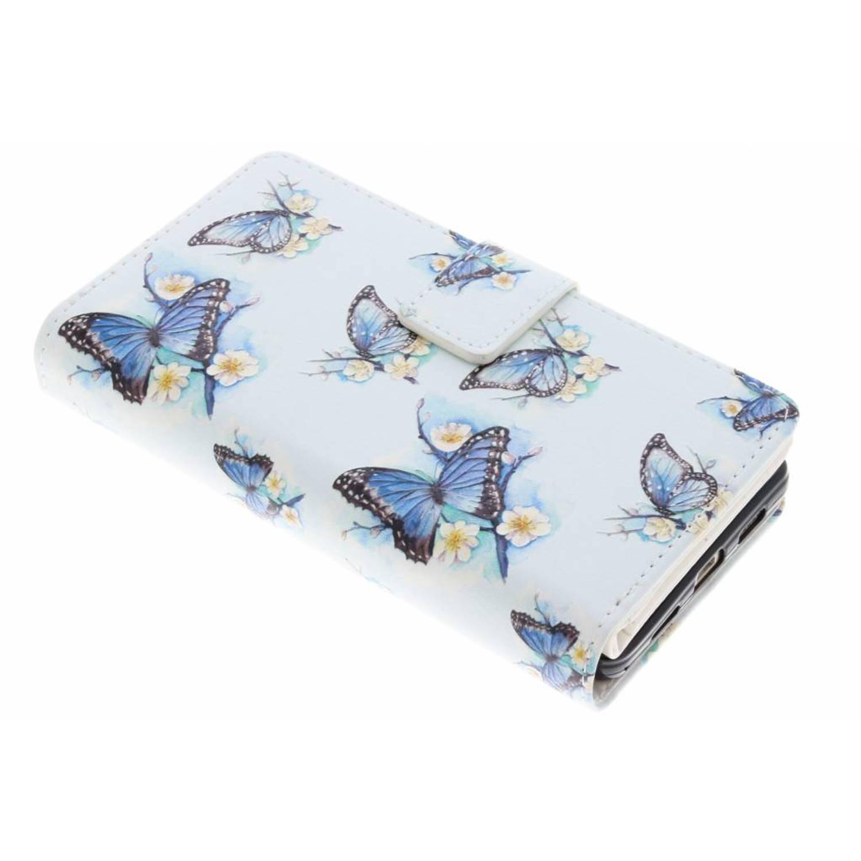 Vlinder design tpu portemonnee voor de huawei p8 lite