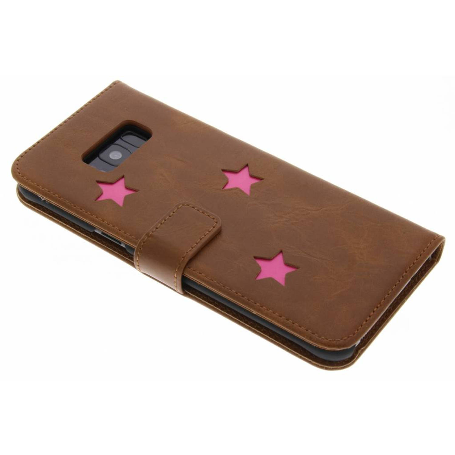 Pink Reversed Star Booktype hoes voor de Samsung Galaxy S8 Plus