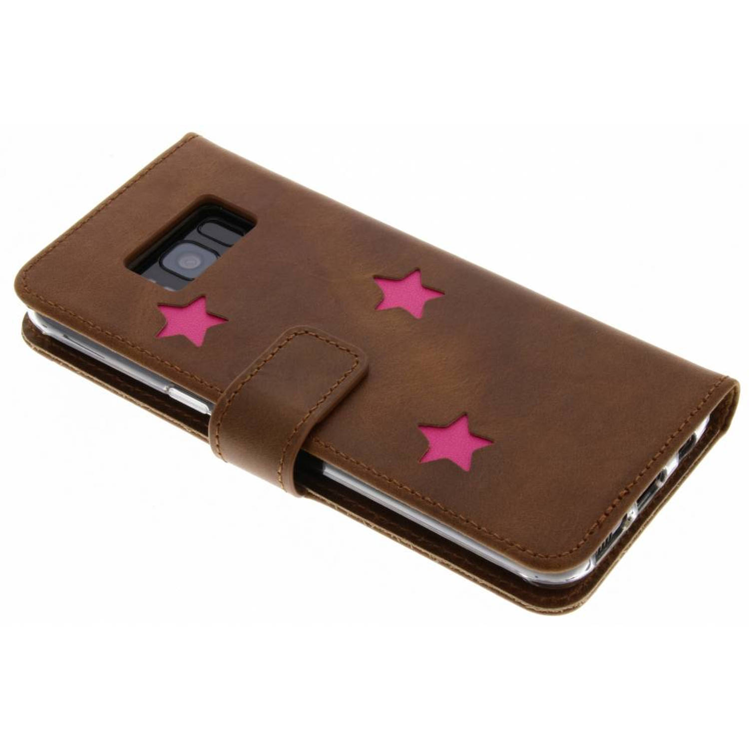 Pink Reversed Star Booktype voor de Samsung Galaxy S8