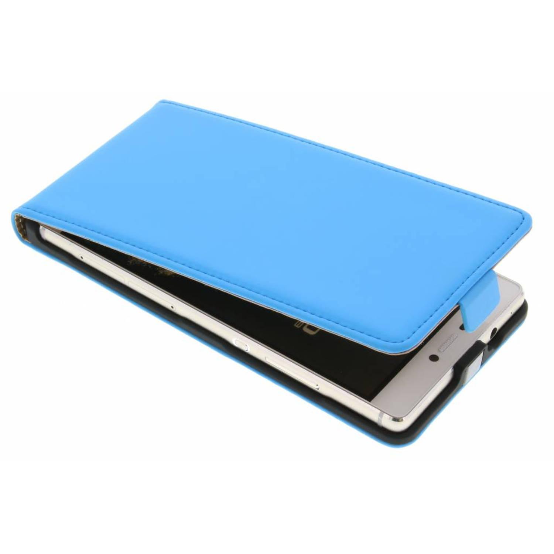 Premium flipcase voor de huawei p8 - light blue