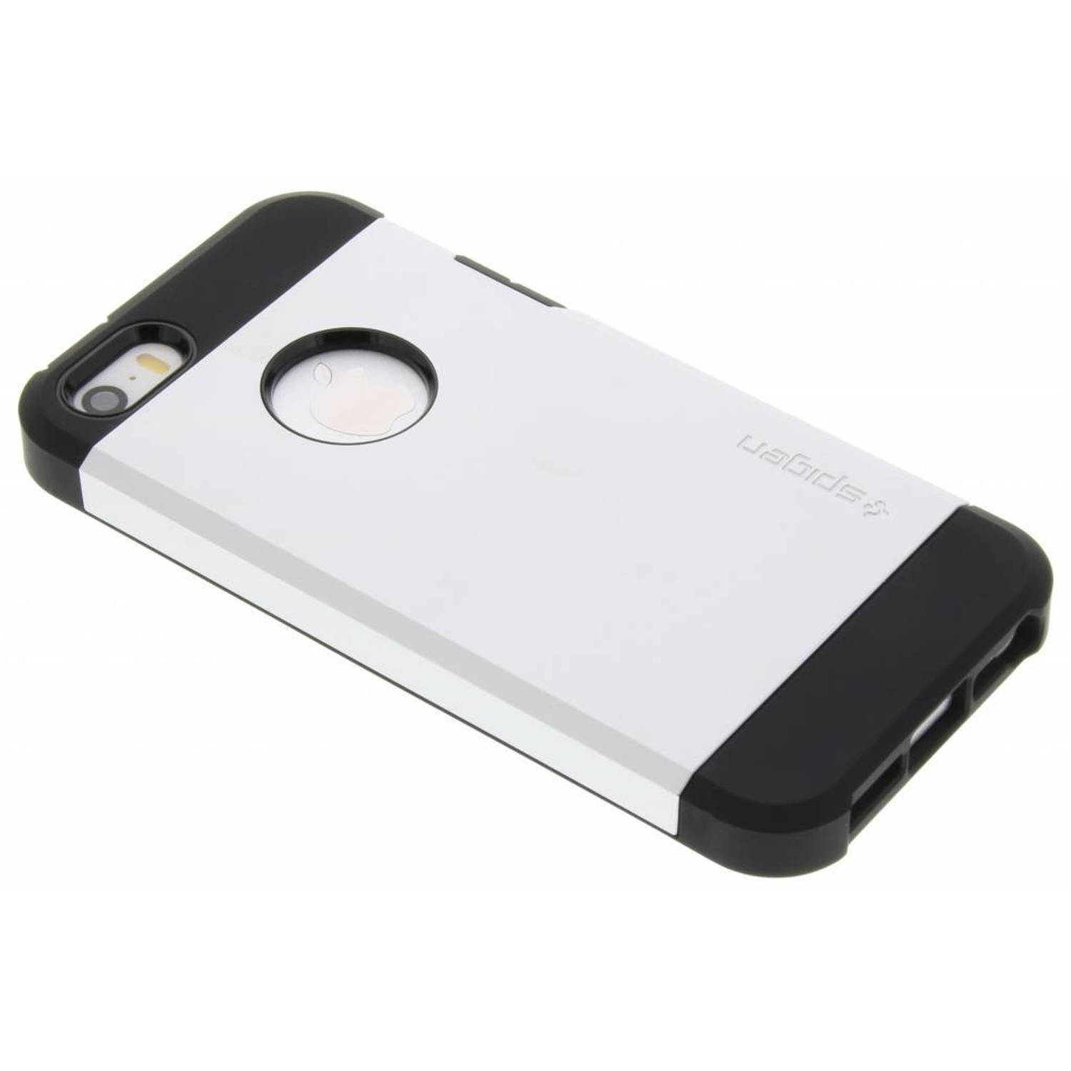 Zilveren Tough Armor Case voor de iPhone 5 / 5s / SE