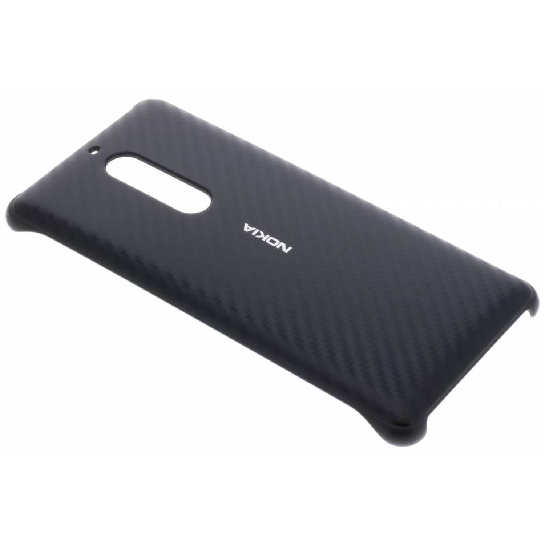Zwarte carbon fibre design case voor de nokia 5