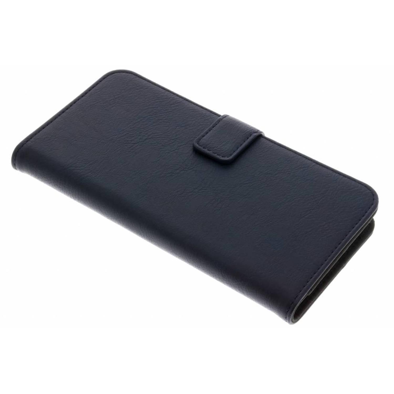 Donkerblauwe luxe leder booktype hoes voor de iPhone 8 Plus / 7 Plus