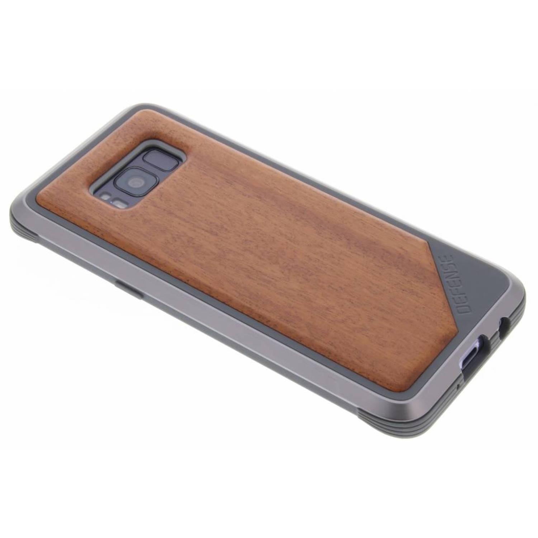 Bruine Defense Lux Cover voor de Samsung Galaxy S8
