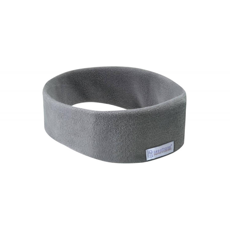 Sleepphones� draadloos fleece grijs large-extra large