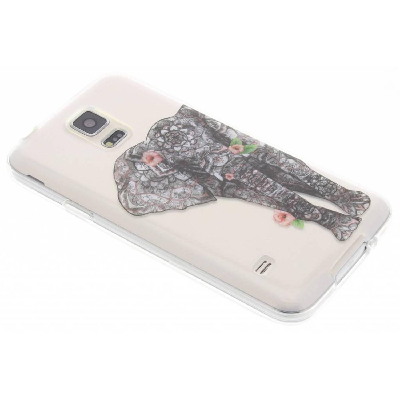 Olifant TPU hoesje voor de Samsung Galaxy S5 (Plus) / Neo