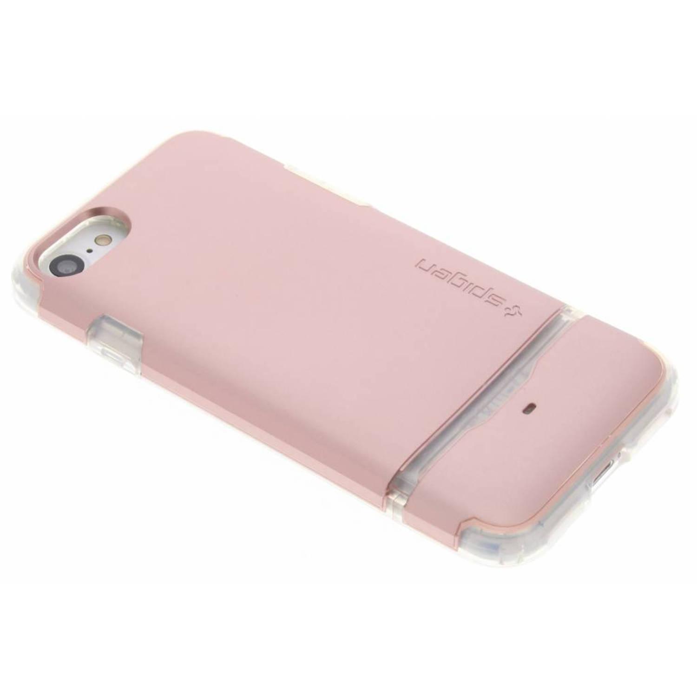 Rosé Gouden Flip Armor Case voor de iPhone 8 / 7