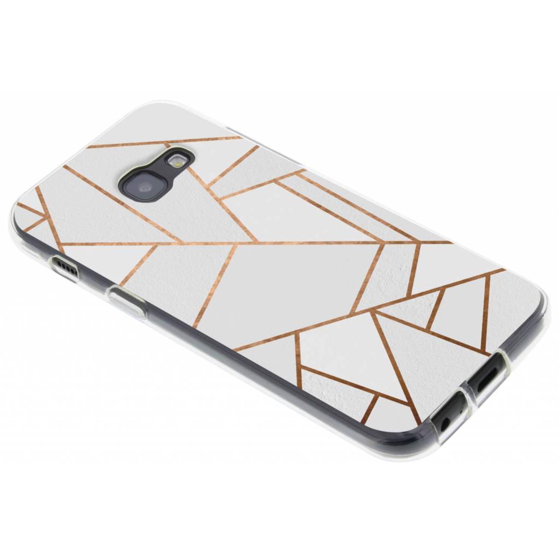 Wit Grafisch design TPU hoesje voor de Samsung Galaxy A3 (2017)