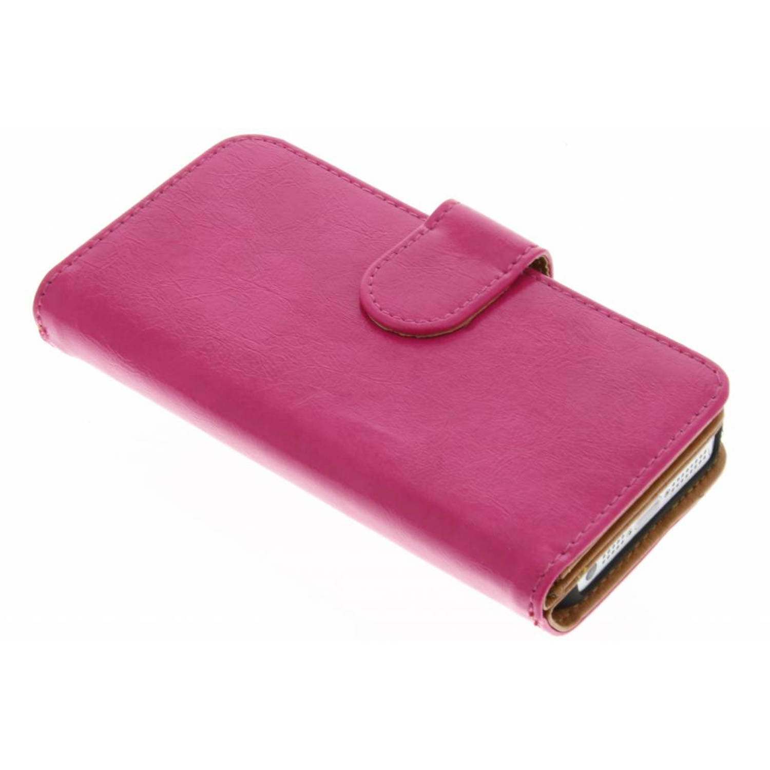 Fuchsia 11-vaks wallet case voor de iPhone 5-5s-SE