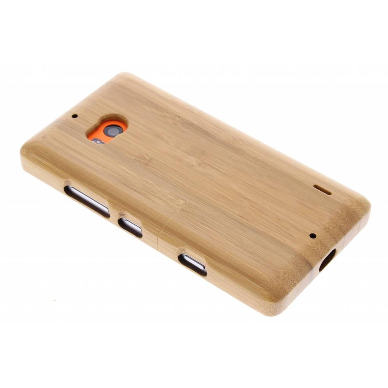 Licht bruin echt houten hardcase hoesje voor de Nokia Lumia 930