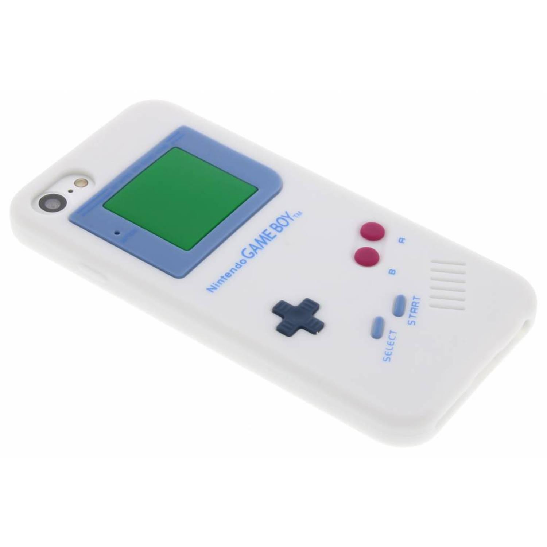 Siliconen hoesje gameboy voor de iphone 8-7 wit