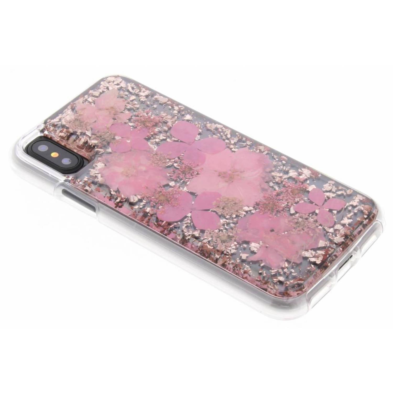 Roze Karat Petals Case voor de iPhone Xs / X