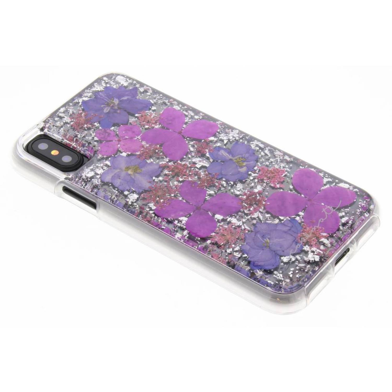 Paarse Karat Petals Case voor de iPhone Xs / X