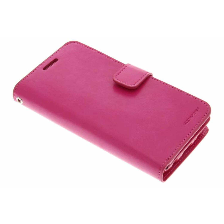 Etui En Toile De Journal Pour Samsung Galaxy S7 - Fuchsia vvA7klQY0