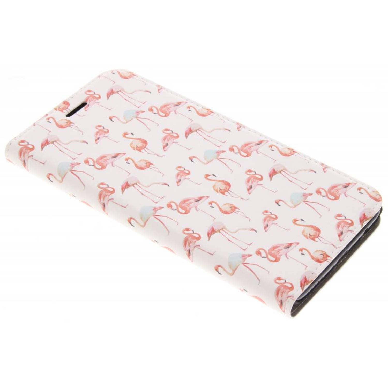 Flamingo design booklet voor de oneplus 5