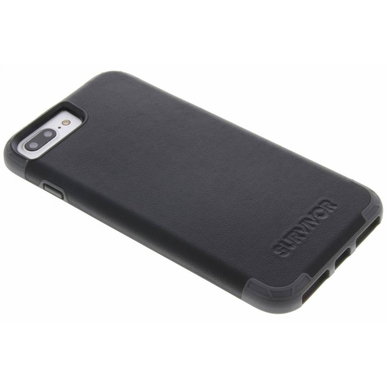 Zwarte Survivor Prime Leather Case voor de iPhone 8 Plus / 7 Plus / 6(s) Plus