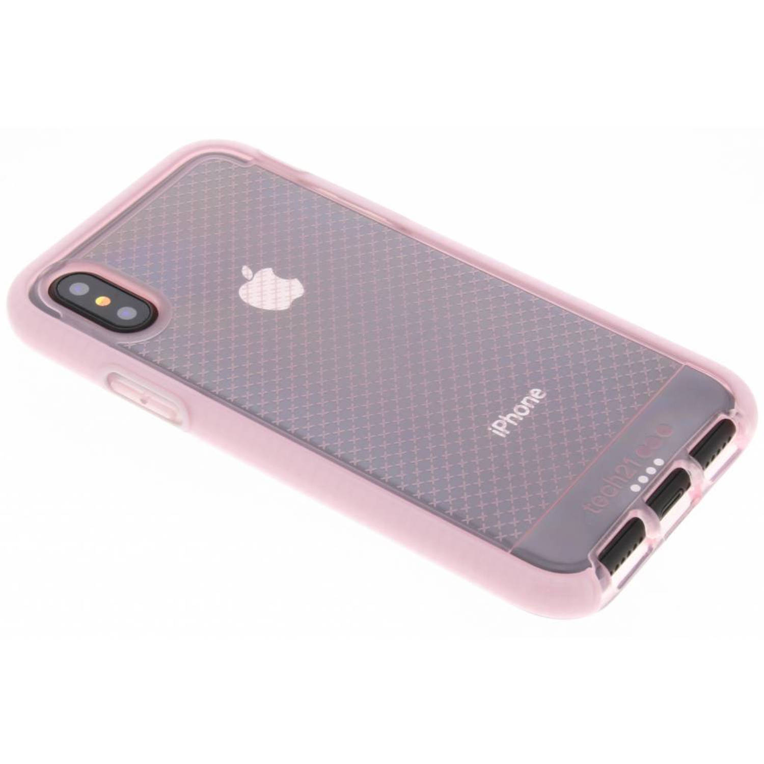 Roze Evo Check Case voor de iPhone X