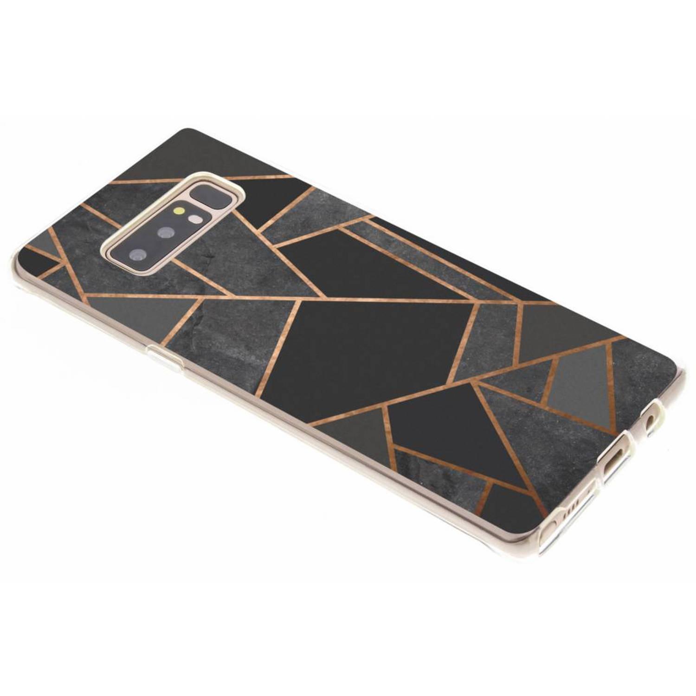 Zwart Grafisch design TPU hoesje voor de Samsung Galaxy Note 8