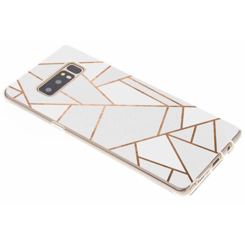 Wit Grafisch design TPU hoesje voor de Samsung Galaxy Note 8