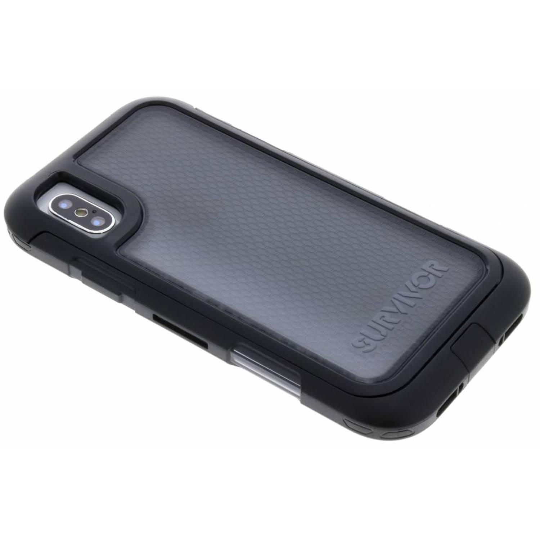 Zwarte Survivor Extreme 360° Protection Case voor de iPhone Xs / X