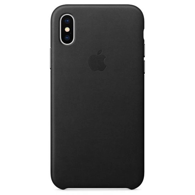 Zwarte Leather Case voor de iPhone X