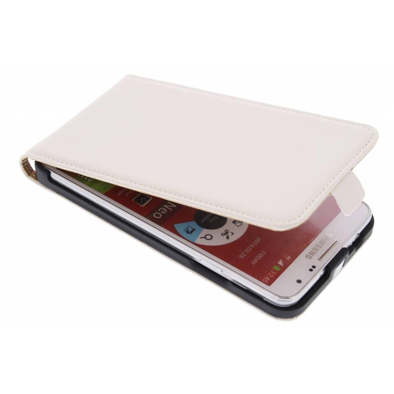 Premium flipcase voor de samsung galaxy note 3 neo - white
