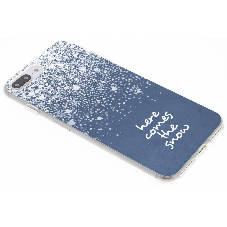 Sneeuw design siliconen hoesje voor de iPhone 8 Plus / 7 Plus