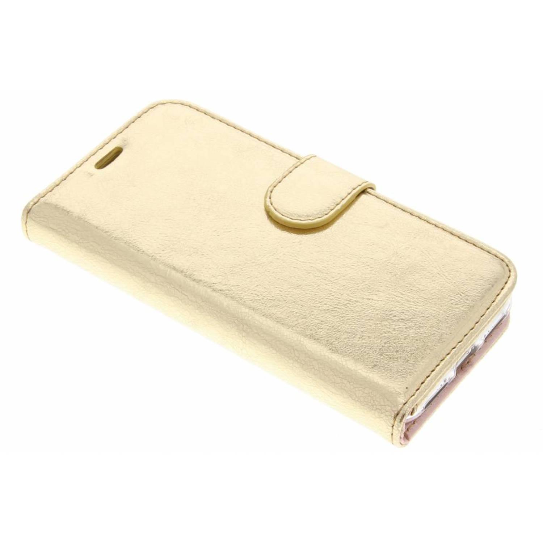 Gouden glamour design TPU booktype hoes voor de iPhone Xs / X