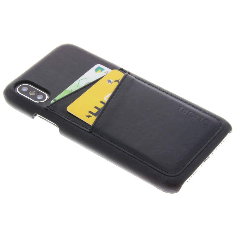 Zwarte Tumba 2 Card Cover voor de iPhone Xs / X