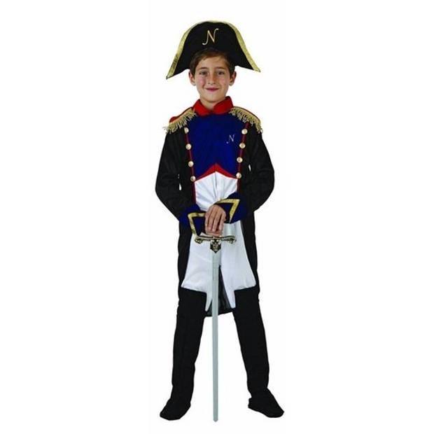 Franse generaal Napoleon kostuum voor jongens 128 (7-9 jaar)