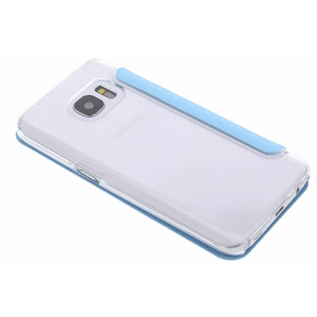 Clear booklet case voor de samsung galaxy s7 - turquoise