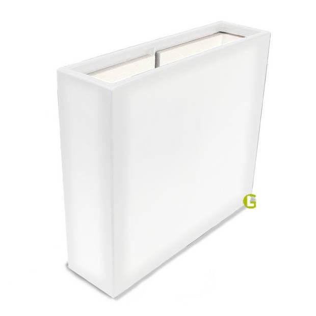 Green-lab Polyester plantenbak 90x25x80 cm zuiver wit