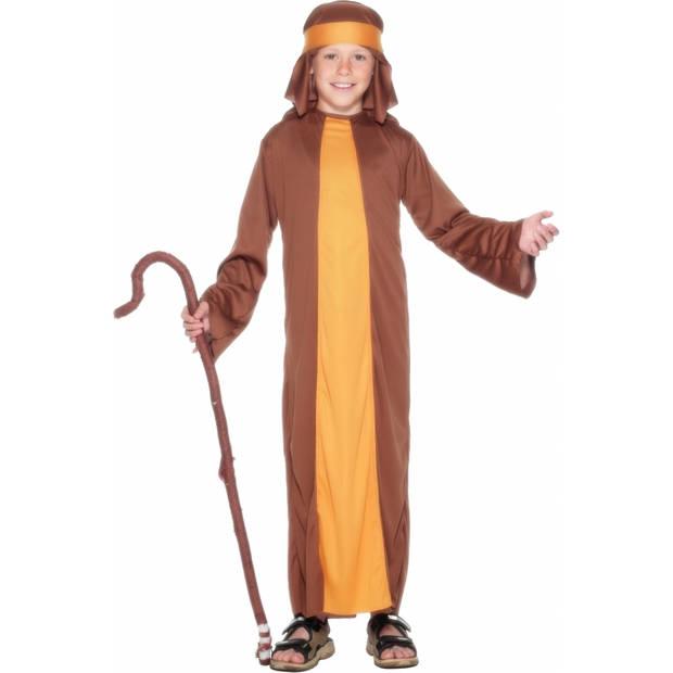 Bruin herders kostuum voor kinderen 104-116 (3-5 jaar)