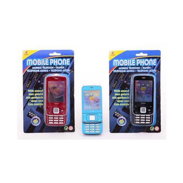Speelgoed mobiele telefoon met geluid licht blauw