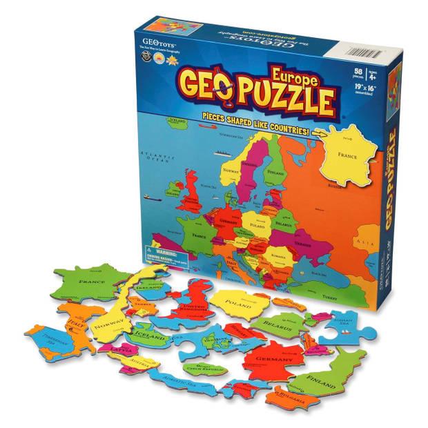 Geopuzzle europa - 58 stukjes (eng)