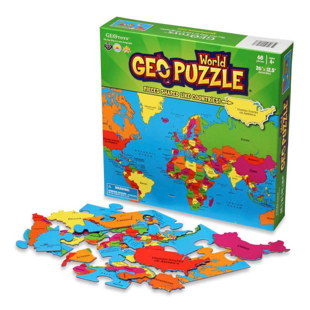Geopuzzle wereld - 68 stukjes (eng)