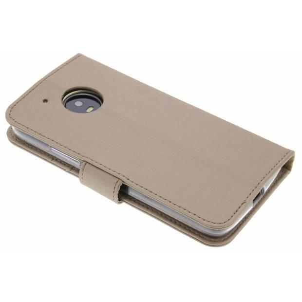 Gouden Wallet TPU Booklet voor de Motorola Moto G5