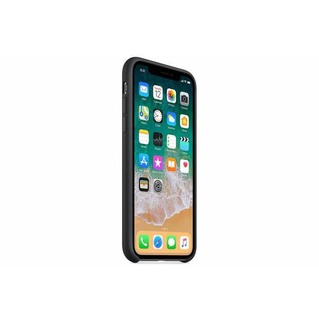 Zwarte silicone case voor de iphone x