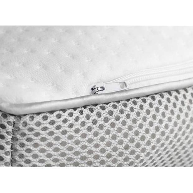 Memory Foam Hoofdkussen 3D Ventilatieband Traagschuim Wit 100% Memory Foam 60 x 40 x 12 cm