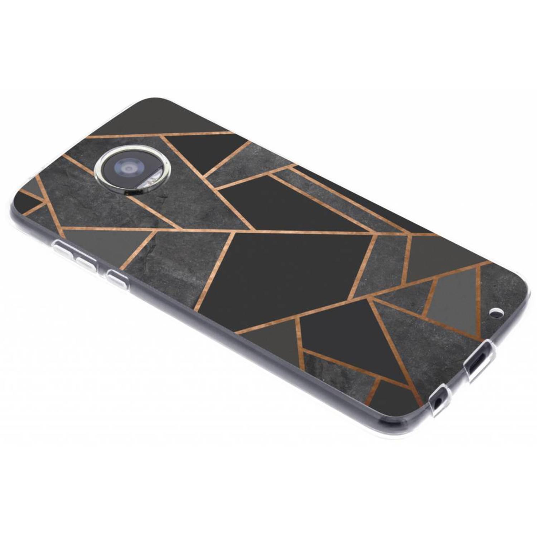 Zwart Grafisch design TPU hoesje voor de Motorola Moto Z2 Play