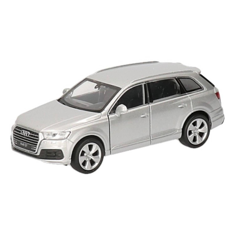 Afbeelding van Speelgoed zilveren Audi Q7 auto 12 cm